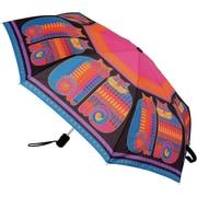 "Laurel Burch Compact Umbrella 42"" Canopy Auto Open/Close-Rainbow Cat Cousins"