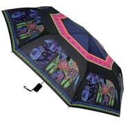"Laurel Burch Compact Umbrella 42"" Canopy Auto Open/Close-Dogs & Doggies"
