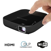 "Magnasonic PP72 HDMI 80"" Display Black 1080P Wi-Fi Mini Video Projector"