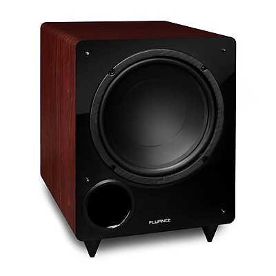 Fluance DB10MA 10-inch Low Frequency Powered Subwoofer for Home Theater (Mahogany)