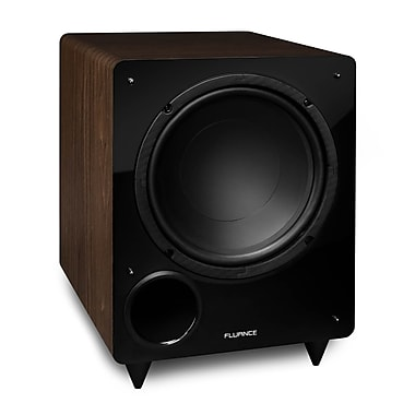 Fluance DB10W 10-inch Low Frequency Powered Subwoofer for Home Theater (Walnut)