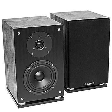 Fluance SX6-BK High Definition Two-Way Bookshelf Loudspeakers - Natural Walnut