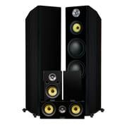 Fluance HFHTB Signature Series Hi-Fi 5.0 Surround Sound Home Theater Speaker System (Black Ash)