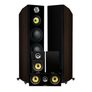 Fluance HFHTBW Signature Series Hi-Fi 5.0 Surround Sound Home Theater Speaker System (Natural Walnut)
