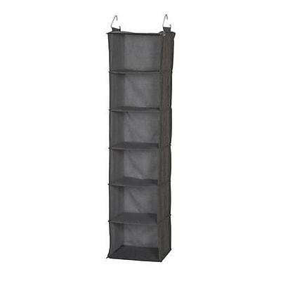 Household Essentials Gray Linen 6 Shelf Hanging Closet Organizer (66412)