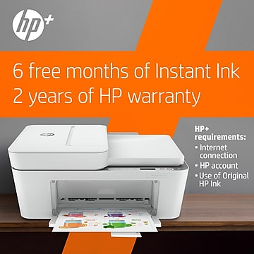 HP DeskJet 4155e Wireless Color All-in-One Printer with bonus 6 free months Instant Ink with HP+ (26Q90A)