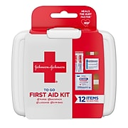 Johnson & Johnson First Aid to Go, 12 Pieces (564624)