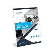 """AdirOffice Sign Holder, 8.5"""" x 11"""", Clear Acrylic, 24/Pack (639-8511-12-2)"""