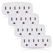 Maxxima 3 Grounded Multi Outlet Adaptor Wall Plug, Pack of 4 (MEW-3A-4)
