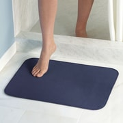 "InterDesign iDry Bath Mat 18""L x 24""W Polyester Navy (16217)"