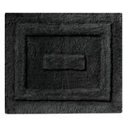 "InterDesign Spa Rug 21""L x 17""W Microfiber Black (17032)"