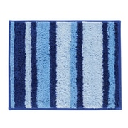 "InterDesign Stripz Rug 21""L x 17""W Microfiber Surf Blue (18903)"