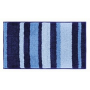 "InterDesign Stripz Rug 34""L x 21""W Microfiber Surf Blue (18913)"