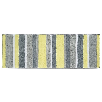 interDesign Microfiber Striped Bathroom Shower Accent Rug 60