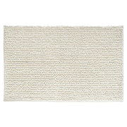 "InterDesign Frizz Rug 30""L x 20""W Microfiber Natural (19015)"