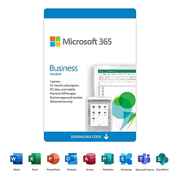 Microsoft 365 Business Standard 12-Month Subscription for PC/Mac, 1 User, Download (KLQ-00218)