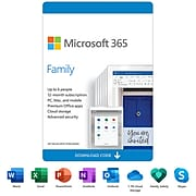 Microsoft 365 Family 12-Month Subscription for 6 Users, Windows/Mac/Android/iOS, Download (6GQ-00091)