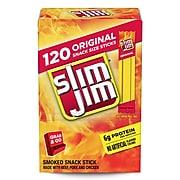 SLIM JIM Snack-Sized Smoked Meat Sticks Original, 0.28 oz, 120 Count (220-00065)