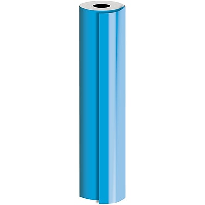 JAM Paper® Industrial Size Bulk Wrapping Paper Rolls, Matte Blue, 1/4 Ream (416 Sq. Ft.), Sold Individually (165J90524208)