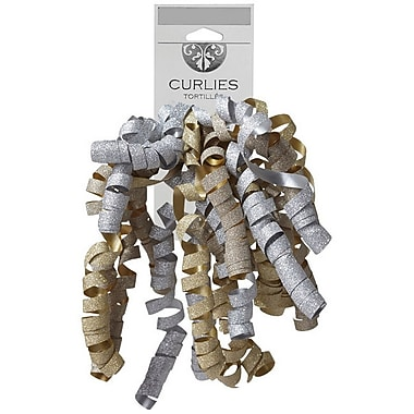 JAM Paper® Curly Gift Bows, 7.25 x 8.25, Bubbly, 120/Pack (376333981)