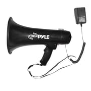Pyle PMP43IN Professional Megaphone / Bullhorn w/Siren and 3.5mm Aux-In For Digital Music/iPod 40 Watts, Black (93582162M)