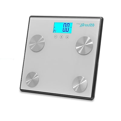 Pyle Health PHLSCBT4SL Bluetooth Digital Weight and Personal Health Scale Silver 330.7 Lbs.