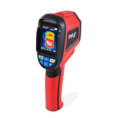 Pyle Meters Infrared IR Thermal Imaging Camera And Digital Heat Sensor Red (PTIMGCM83)