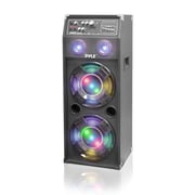 Pyle PSUFM1045A 1000 Watt Disco Jam Powered Two-Way DJ Speaker System with DJ Flashing Lights