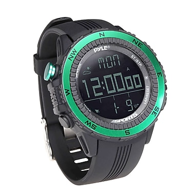 Pyle Digital Multifunction Active Sports Watch with Multi Meters (PSWWM82GN)