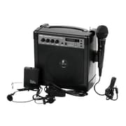 Pyle PWMA220BM Portable Karaoke PA Speaker Amplifier & Microphone System 60-Watt Bluetooth, Black