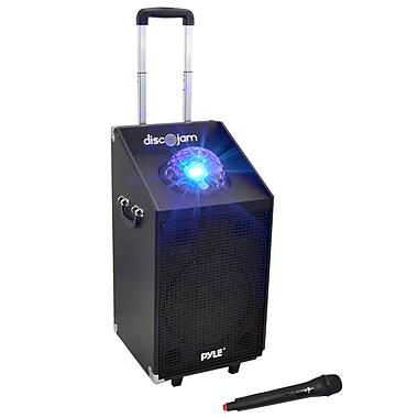 Pyle PWMA1594UFM 600-Watt Bluetooth Battery Powered Portable PA Speaker System, Black