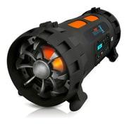 Pyle PBMSPG200 Street Blaster 1000 Watt Rugged & Portable Bluetooth Wireless BoomBox, Black/Orange