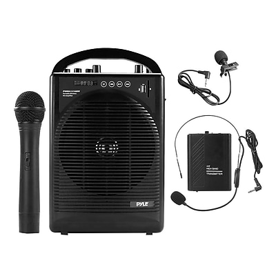 Pyle Pro PWMA1216BM Portable PA Speaker Amplifier & Microphone System Black