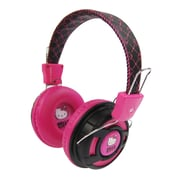 Hello Kitty KT2091BP Over the Ear Foldable Stereo Headphones, Pink