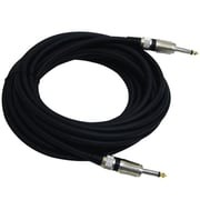 Pyle Pro PPJJ30 30 Feet 1/4'' to 1/4'' Professional Speaker Cable, Black/Silver