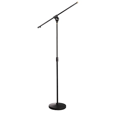 Pyle Home Universal Compact Base Microphone Stand With Adjustable & Extendable Boom (PMKS15)