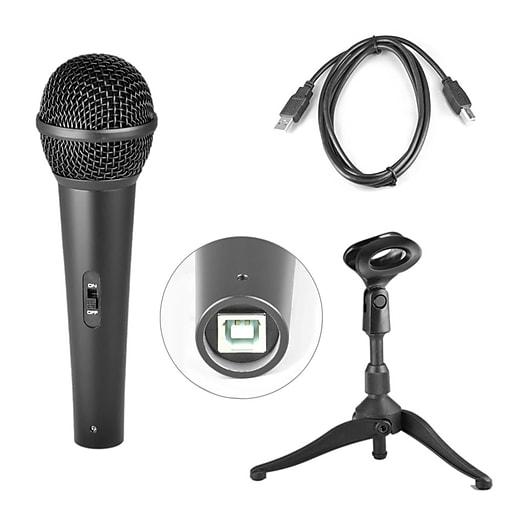 pyle pro pdmicusb6 dynamic usb microphone studio recording microphone staples. Black Bedroom Furniture Sets. Home Design Ideas