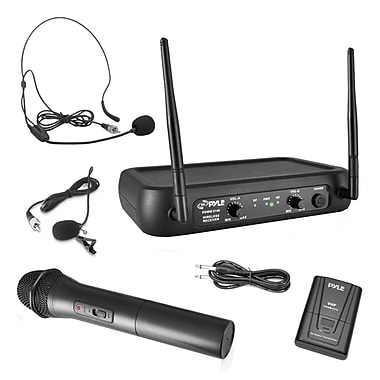 Pyle Pro PDWM2140 VHF Wireless Microphone System Black