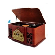 Pyle Home Bluetooth Vintage Classic-Style Turntable Speaker System with Vinyl-to-MP3 Recording (PTCD64UBT0