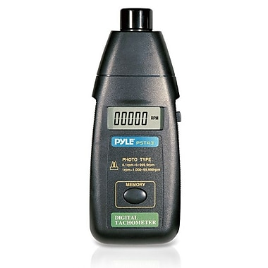 Pyle Precision Non-Contact Laser Tachometer With Extended RPM Range (PST43)