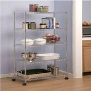Seville Classics 5-Tier Steel Wire Shelving with Wheels (SHE14305B)
