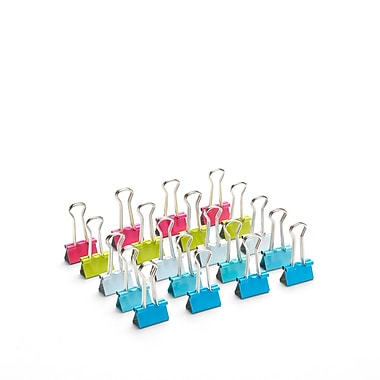 Poppin Bulk Pack of Assorted Small Binder Clips, 960 Count (105042)