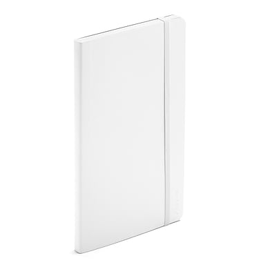 Poppin Bulk Pack of Soft Cover Notebooks, Medium, White, 100 Count (105046)