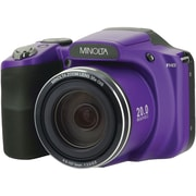 Minolta 20.0-Megapixel 1080p Full HD Wi-Fi MN35Z Bridge Camera with 35x Zoom, Purple (MN35Z-P)