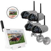 SecurityMan 4-Channel App-Based Wireless Security System with 4 SM-816DTX Cameras (DIGILCDNDVR4)