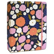 """2018 High Note 8.25"""" x 7"""" 18-Month Weekly Hardcase Organizer Floral Pattern in Gold (CHH0302)"""