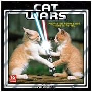 "2018 Sellers Publishing, Inc. 12"" x 12"" Cat Wars Wall Calendar (CA0115)"