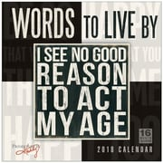 """2018 Sellers Publishing, Inc. 12"""" x 12"""" Words To Live By - Primitives By Kathy Wall Calendar (CA0173)"""