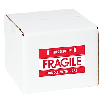 """Tape Logic Fragile This Side Up Staples® Shipping Label, 3"""" x 5"""", 500/Roll"""