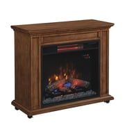 Duraflame Rolling Mantel with Infrared Quartz Fireplace, Premium Oak (23IRM1500-O107)